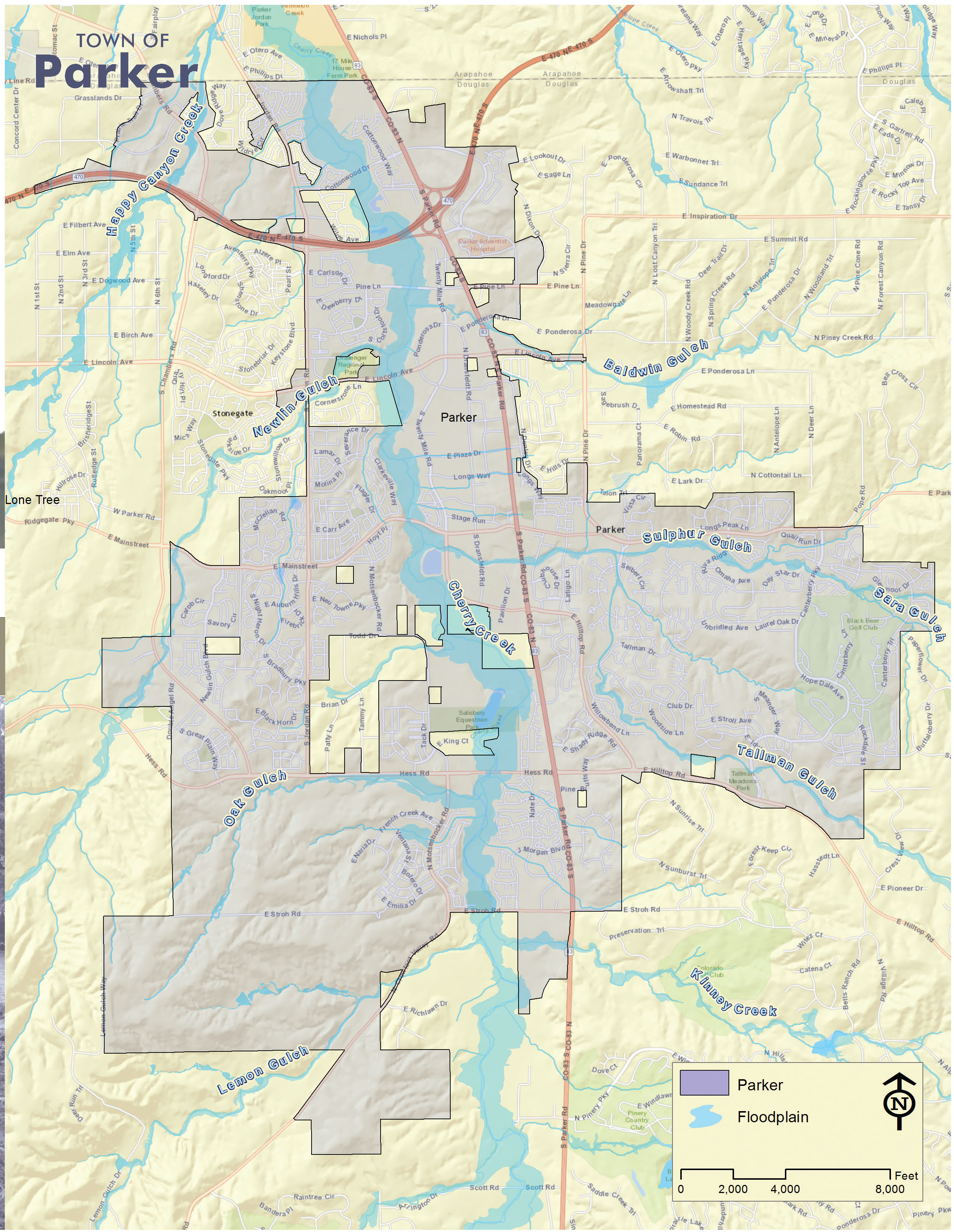 Parker Floodplain Map