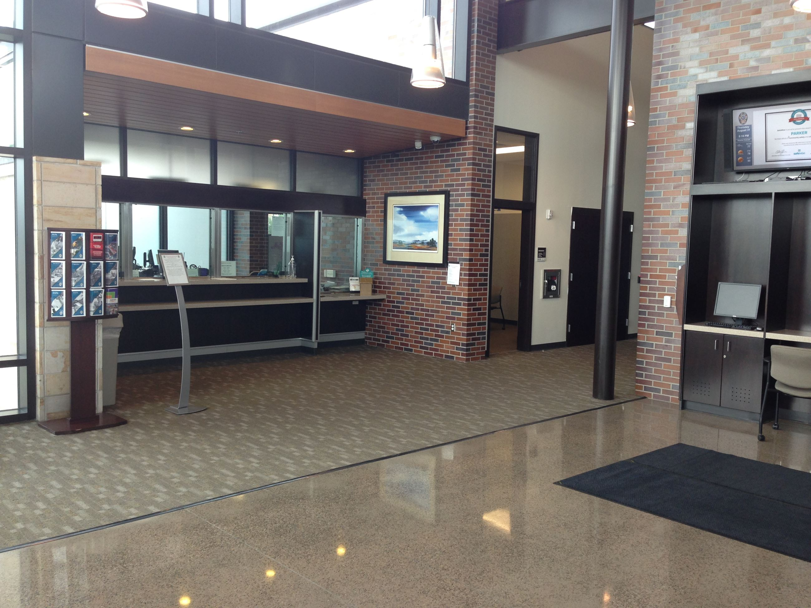Photo of the Parker PD front lobby