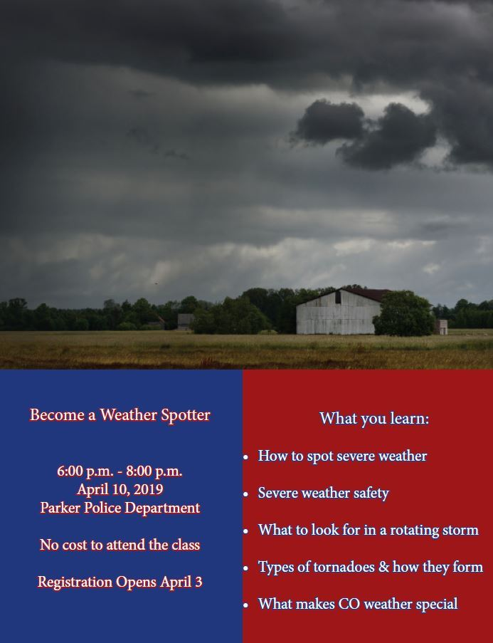 2019 Weather Spotter Flyer