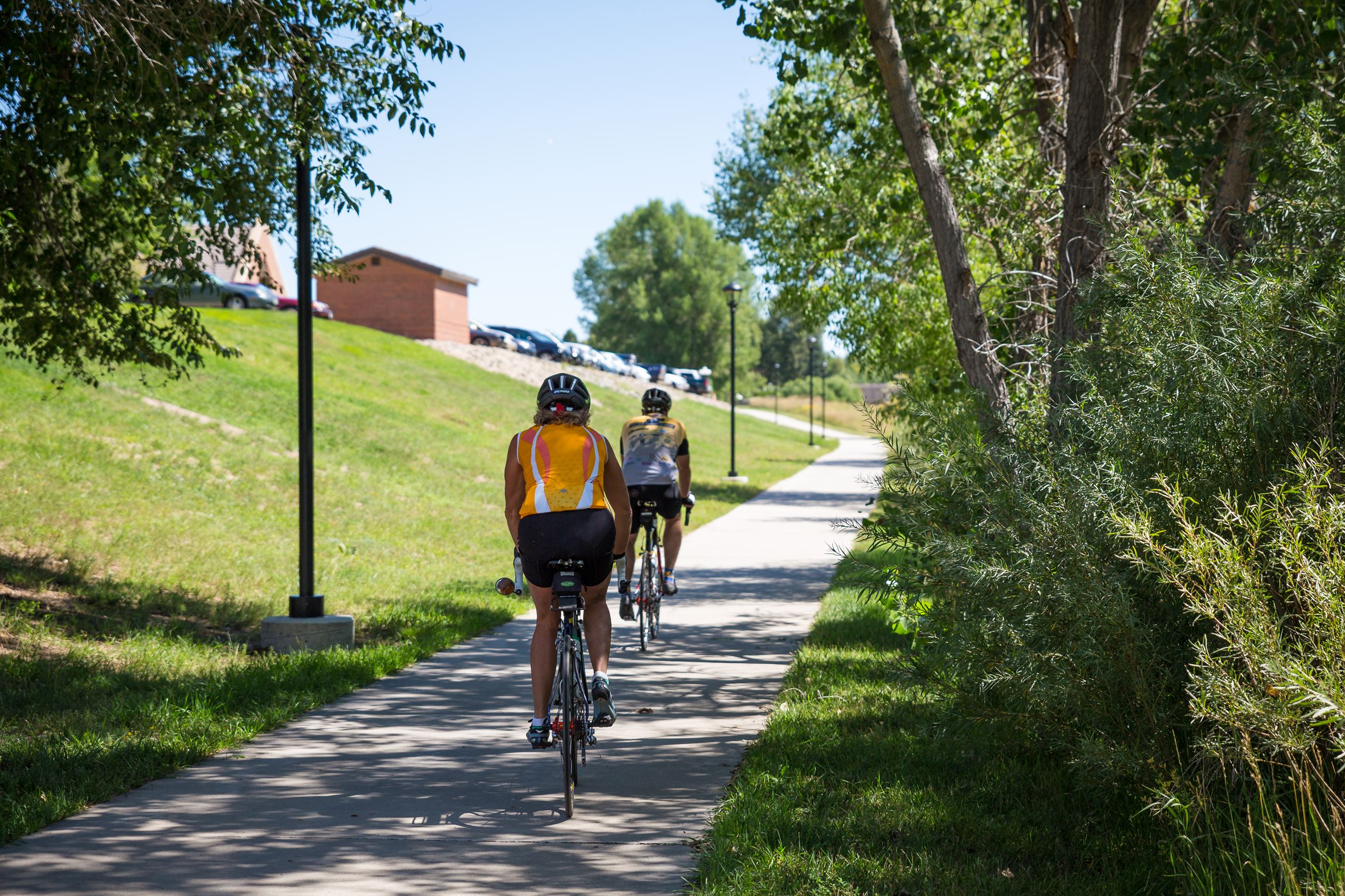 two bike riders on a Parker trail
